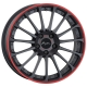 Breyton Magic CW 7,5x18 5-112 ET 48 Matt Grey with Red Anodized
